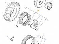 Передний колесный диск трактора Massey Ferguson (W12x24) — 36136400