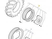 Задний колесный диск трактора Massey Ferguson (DW15L X 34) — 36136900