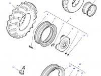 Передний колесный диск трактора Massey Ferguson (W8x16) — 36137500