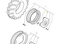 """Вставка заднего колесного диска трактора Massey Ferguson (38"""") — 36141000"""