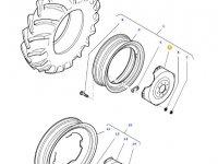 """Вставка заднего колесного диска трактора Massey Ferguson (34"""") — 36141400"""