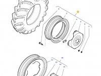 Задний колесный диск трактора Massey Ferguson (DW15L X 30) — 36160200