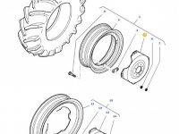 """Вставка заднего колесного диска трактора Massey Ferguson (30"""") — 36160400"""