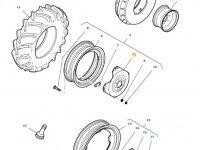 Вставка переднего колесного диска трактора Massey Ferguson (W10 X 24) — 36173600