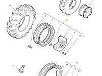 Передний колесный диск трактора Massey Ferguson (W10x24) — 36173700
