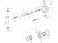 Правый поворотный кулак моста для тракторов Valtra — 36399800