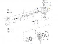 Левый поворотный кулак моста для тракторов Valtra — 36399900
