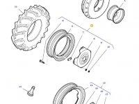 Передний колесный диск трактора Massey Ferguson (W10x28) — 36402400