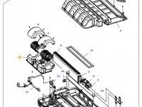 Вентилятор печки отопителя кондиционера кабины трактор Massey Ferguson — 36635800