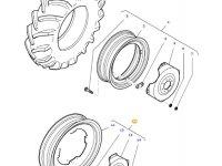 Задний колесный диск трактора Massey Ferguson (W8 X 48) — 36642000