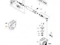 Левый поворотный кулак моста для тракторов Valtra — 36698500