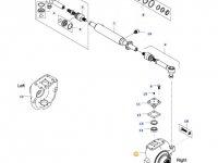 Правый поворотный кулак моста для тракторов Valtra — 36698600