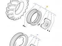 Задний колесный диск трактора Massey Ferguson (DW18L X 34) — 37004400