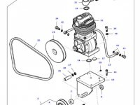 Воздушный компрессор двигателя трактора Massey Ferguson — 37071500
