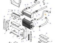 Патрубок радиатора двигателя трактора Massey Ferguson — 37166400