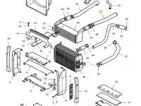 Патрубок интеркулера двигателя трактора Massey Ferguson — 37188200
