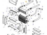Патрубок интеркулера двигателя трактора Massey Ferguson — 37188300