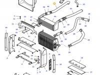 Патрубок интеркулера двигателя трактора Massey Ferguson — 37188410