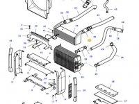 Патрубок интеркулера двигателя трактора Massey Ferguson — 37209500