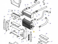 Радиатор двигателя трактора Massey Ferguson — 37474700