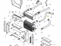 Патрубок радиатора двигателя трактора Massey Ferguson — 37530000