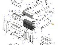 Патрубок радиатора двигателя трактора Massey Ferguson — 37639900