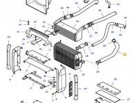 Патрубок радиатора двигателя трактора Massey Ferguson — 37640400