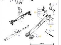 Правая тяга (с крюком) навески трактора Massey Ferguson (L=980 D=37) — 45350110