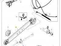 Правая тяга (с крюком) навески трактора Massey Ferguson (L=980 D=37) — 45350130