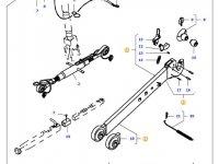 Левая тяга (с крюком) навески трактора Massey Ferguson (L=980 D=37) — 45350210