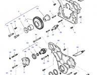 Передний сальник коленвала двигателя трактора Massey Ferguson — 614105880