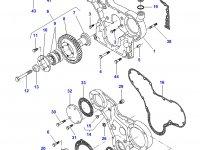 Передний сальник коленвала двигателя Sisu Diesel трактор Challenger — 614105880