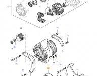 Ремень генератора двигателя трактора Massey Ferguson — 685061755