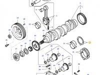 Упорная шайба коленвала двигателя трактора Massey Ferguson — 836119459