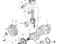 Упорная шайба(стандарт) коленвала двигателя Sisu Diesel на трактор Challenger — 836119459
