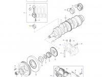 Вкладыши шатунные двигателя трактора Massey Ferguson — 836179781