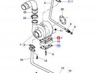 Прокладка турбокомпрессора двигателя трактора Massey Ferguson — 836316726