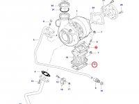 Прокладка турбокомпрессора двигателя трактора Challenger — 836316726