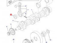 Вкладыши шатунные для двигателя Sisu Diesel трактора Challenger — 836338650