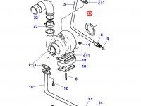 Прокладка турбокомпрессора двигателя Sisu Diesel трактора Massey Ferguson — 836338985