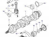Демпфер шкива коленвала двигателя трактора Massey Ferguson — 836340689