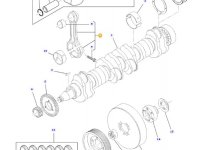 Комплект шатунов двигателя трактора Challenger — 836340948