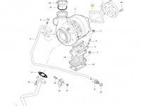 Прокладка турбокомпрессора двигателя трактора Massey Ferguson — 836355017