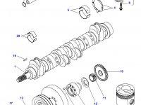 Комплект поршневых колец двигателя Sisu Diesel трактора Massey Ferguson — 836640078