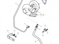 Турбокомпрессор двигателя трактора Massey Ferguson — 836640466