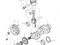 Комплект шатунов двигателя трактора Massey Ferguson — 836640968
