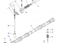 Впускной клапан двигателя Sisu Diesel трактор Challenger — 836646356