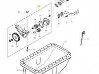 Масляный насос двигателя трактора Massey Ferguson — 836652603