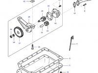 Масляный насос двигателя трактора Massey Ferguson — 836652604
