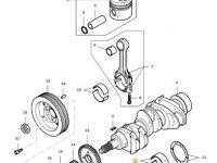 Вкладыши коренные двигателя трактора Massey Ferguson — 836655514